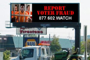 Election Integrity Watch Electronic Billboard