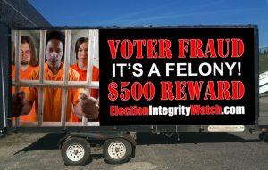 Election Integrity Watch Mobile Billboard Trailer